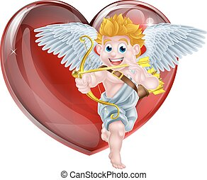 Cartoon Valentines Day Cupid