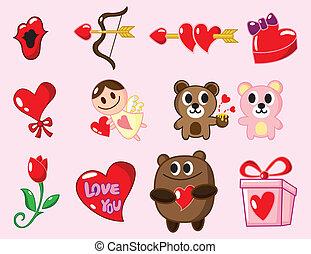 cartoon Valentine\'s Day