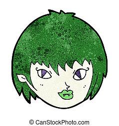 cartoon vampire girl face