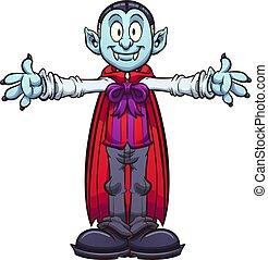 Cartoon vampire - Happy cartoon vampire with separate body ...