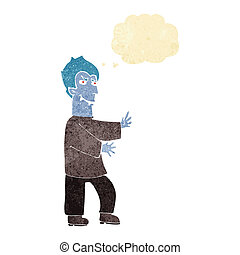 cartoon vampire with thought bubble
