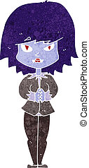 cartoon vampire woman