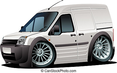 Cartoon van isolated on white background. Available EPS-10...