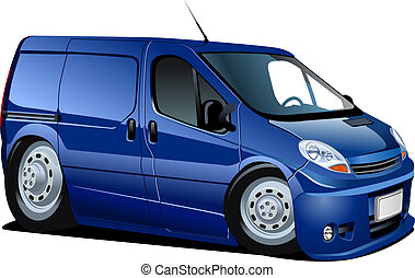 Cartoon van isolated on white background. Available EPS-10 ...