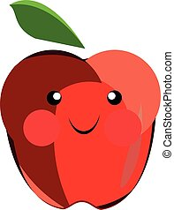 Cartoon vector apple