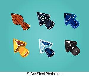 Cartoon Vector Arrows, Cursors