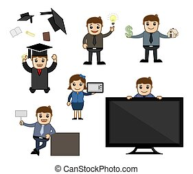 Cartoon Vector Business Concepts