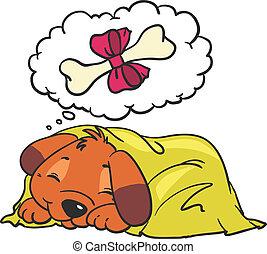 Cartoon Vector Comic Illustration of Dog