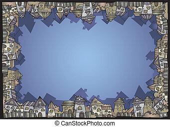 Cartoon vector construction isolated town border - Fairy ...