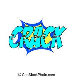 Cartoon Vector Crack