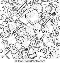 coloring pages with lots of detail - italian cook cartoon coloring page black and white