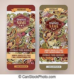 Norway culture cuisine 2 isometric banners  Norwegean