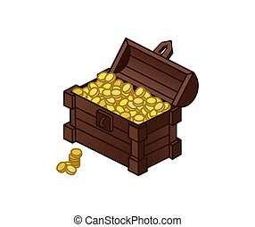 chest of gold coins