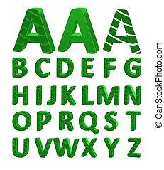 Cartoon vector font, full alphabet