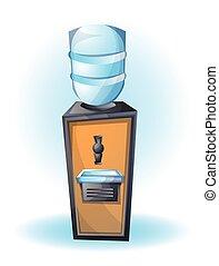 cartoon vector illustration dispenser office object