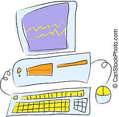 Desktop PC - Cartoon Vector Illustration of a Desktop PC