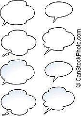 Cartoon Vector illustration of a set speak bubble