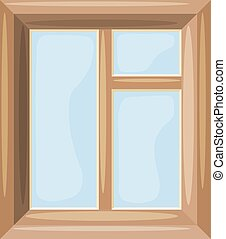 Cartoon Vector illustration of abstract windows on a white background. Cartoon style. Cartoon Housing Element window