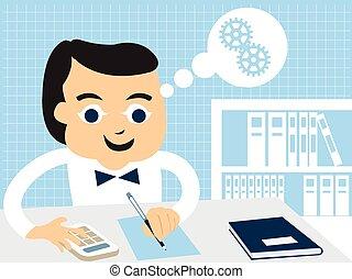 accountant - Cartoon vector illustration of an accountant...