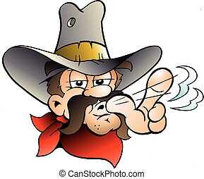 Cartoon Vector illustration of an Cowboy