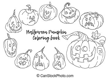 Cartoon Vector Illustration of Black and White Halloween