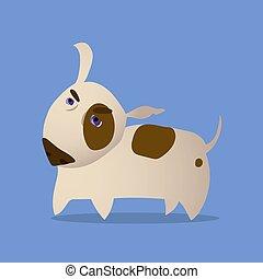 Cartoon Vector Illustration of Bull Terrier Dog