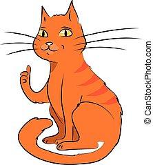 cartoon vector illustration of cat