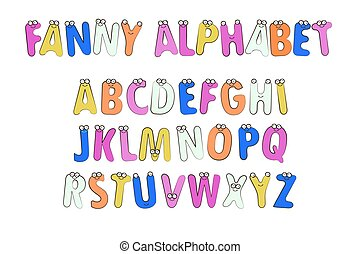 Letters Alphabet for Children Education.