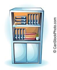 cartoon vector illustration office Cabinet object