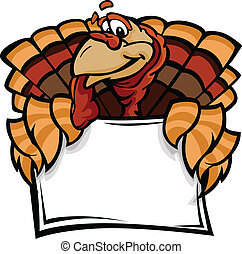 Cartoon Vector Image of a Thanksgiving Holiday Turkey...