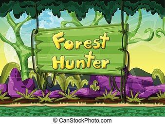 Cartoon vector landscape
