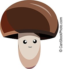 Cartoon vector mushroom