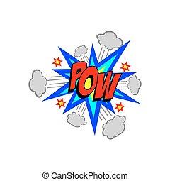 Cartoon Vector Pow Sound