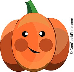 Cartoon vector pumpkin