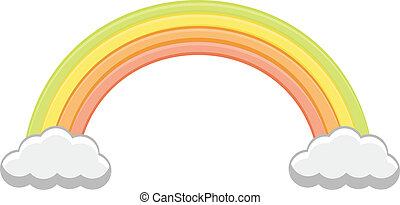 Cartoon Vector Rainbow