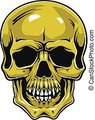 Cartoon Vector Skull . Hand drawn. Eps8