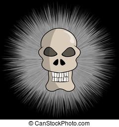 Cartoon vector skull. Skull illustration.