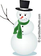 Cartoon Vector Snowman