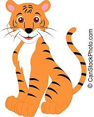 Cartoon Vector Tiger