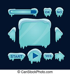 Cartoon Vector Winter Game User Interface - Cartoon vector ...
