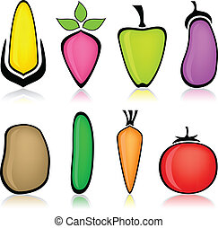 Cartoon vegetable