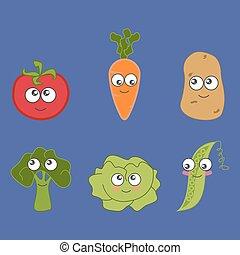 Cartoon vegetable cute