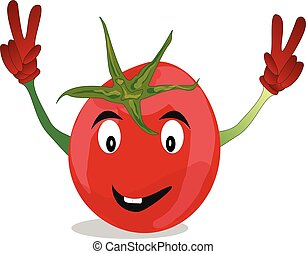 Cartoon vegetable vector image isolated