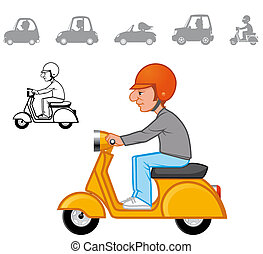 Cartoon vehicles series - Cartoon vehicles series Color and...
