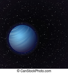 Cartoon Venus in open space - Cartoon Venus planet in open...