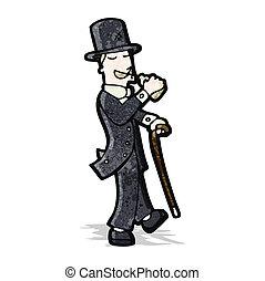 Cartoon Victorian Gentleman Cartoon Victorian Gentleman