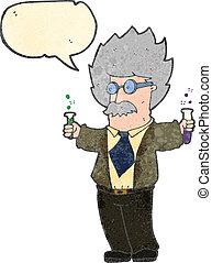 cartoon, videnskabsmand