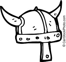 cartoon viking helmet