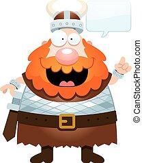 Cartoon Viking Talking