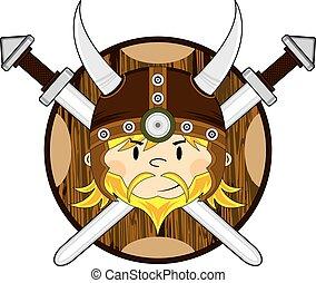 Cartoon Viking Warrior